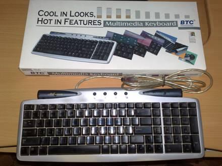 BTC 9110 SILVER Tastatura