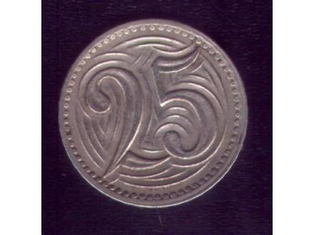 CZECHOSLOVAKIA 25 Haleru 1933 godina
