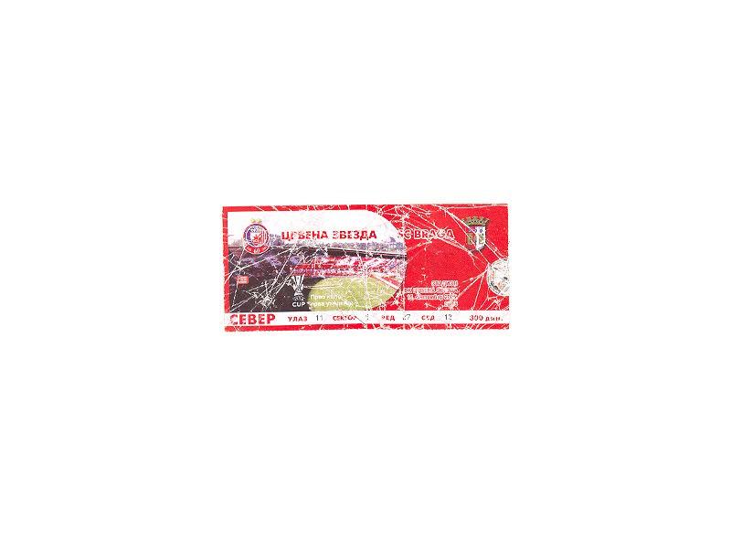 Crvena Zvezda-SC Braga 2005,ulaznica za mec.