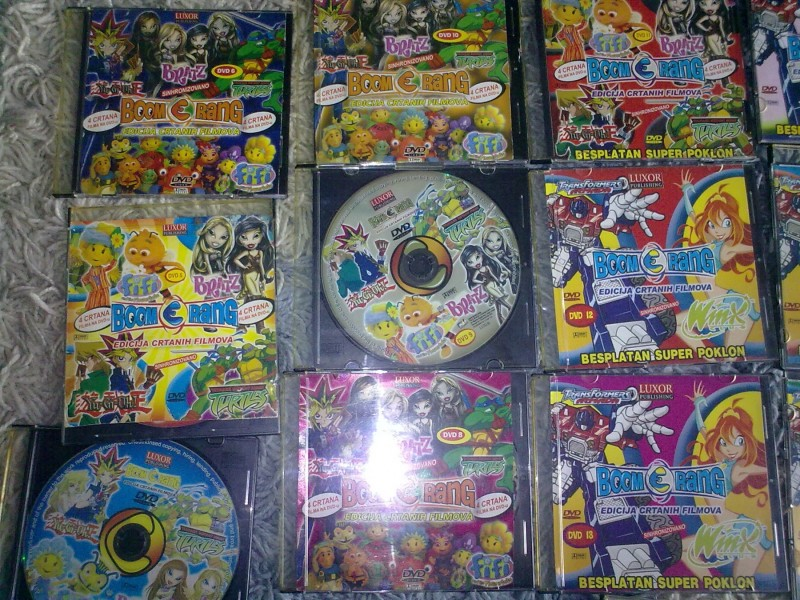 **DVD Luxor Boomerang** (Bratz, Fifi, YuGiOh, Nindza ko