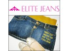 *** ELITE JEANS *** 36 mini texas suknja