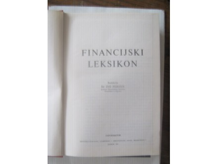 , FINANCIJSKI LEKSIKON,,drIVO PERISIN