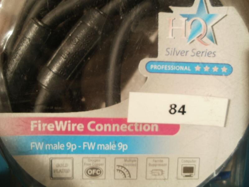 FIREWIRE Kabl male 9P - male 9P pro