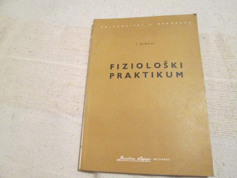 FIZIOLOSKI PRAKTIKUM  I.Djuricic