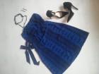 H&M Piton plava haljina