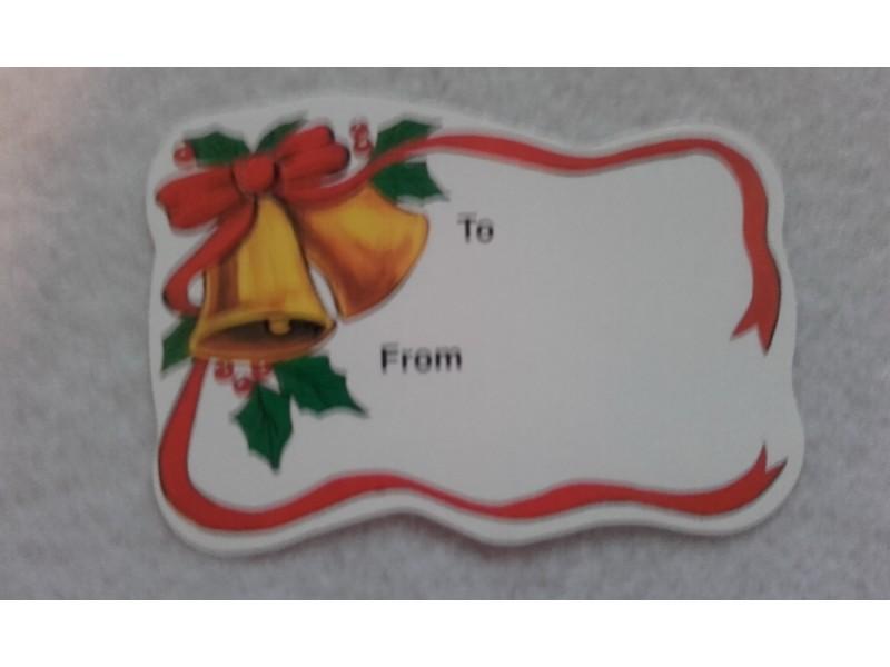 *K683-novogodisnja tag kartica 6.5x5cm/kom