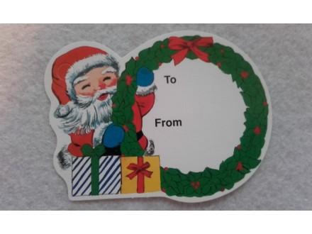 *K691---novogodisnja tag kartica 7x5.5cm/kom