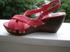 Koralno crvene ZARA sandale  br.36 NOVO 23cm