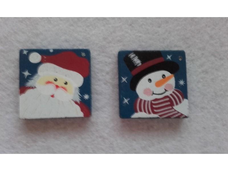 *M762--štipaljka Deda Mraz i Sneško/2kom