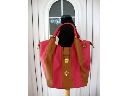 `MULBERRY` - BRAON - PINK TORBA - NOVO