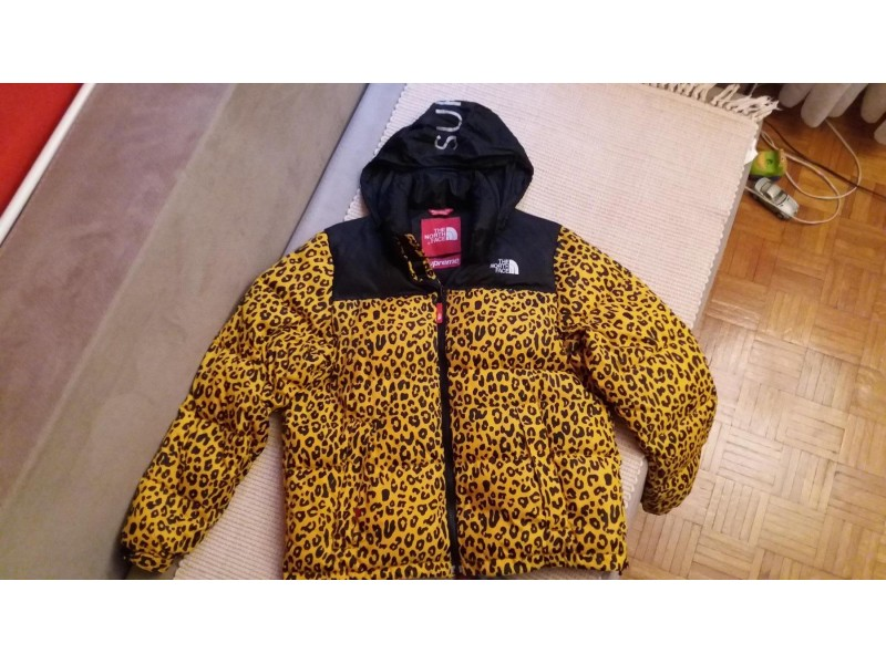 `Nort Face Supreme`Yellow Leopard Nuptse Down 700