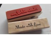 *P008--.Pečat  MADE WITH LOVE /kom