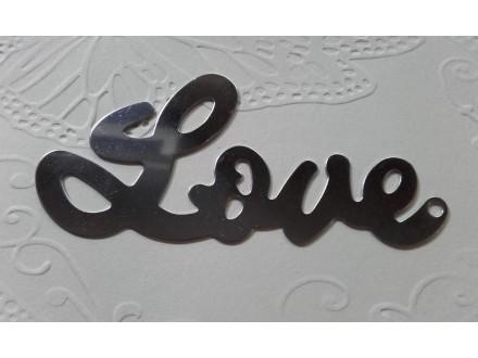 *P018---.ŠABLON LOVE 8,5X4 cm/kom