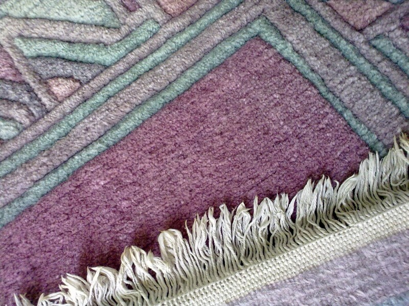 **Rucno cvorovan vuneni tepih staza** 165cmx95cmx2cm
