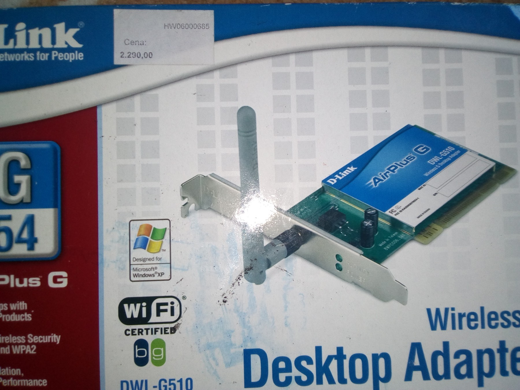 D-LINK WIRELESS ADAPTER DWL-G510 DRIVERS FOR WINDOWS XP