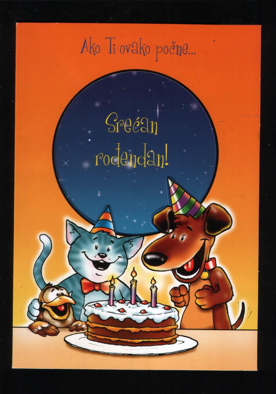 šaljiva rođendanska čestitka čestitka rođendanska, LEO kartolina   Kupindo.(25048953) šaljiva rođendanska čestitka