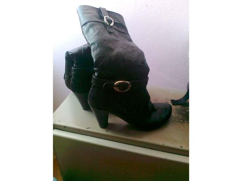 kožne čizme crne
