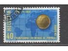 00949 svajcarska zigosana marka 1954 god fudbal fifa