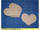 047 Srca ukras 9x8cm, 5 komada, dekupaž repro