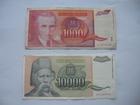 1.000 dinara 1992. i 10.000 dinara 1993. (2 komada)
