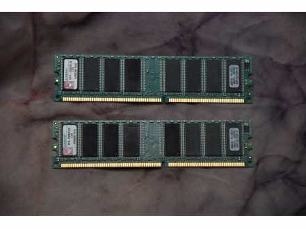 1 gb DDR 1 DVA MODULA PO 512 MB KINGSTON