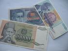 10.000, 500.000, 500.000.000 dinara 1993. (3 komada)