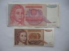 10.000 dinara 1992. i 1 milijarda dinara 1993. (2 kom)