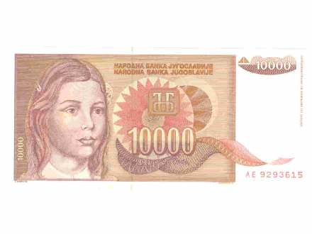 10.000.dinara,SRJ,1992,unc.