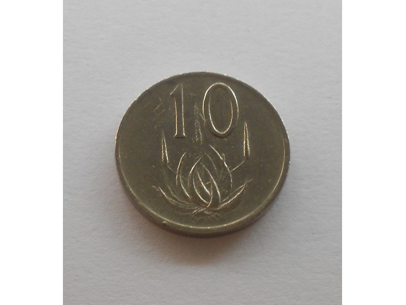 10 Cents (SOUTH AFRICA - SUID-AFRIKA)  1984 KM# 85