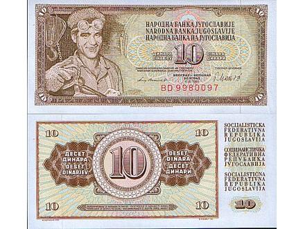 10 DINARA 1981 UNC