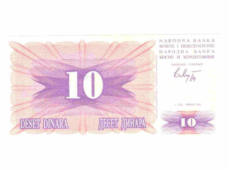 10 dinara,BiH,1992,unc.