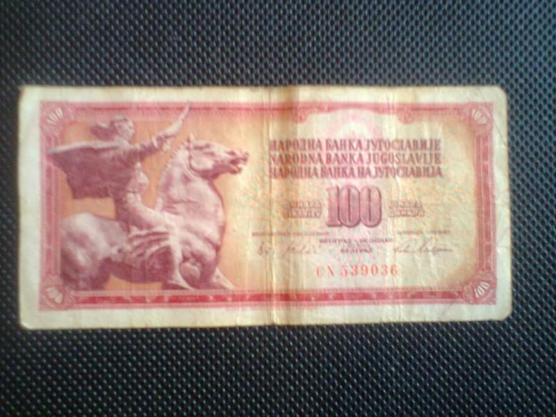100 DINARA 1.8.1965. (RETKO)