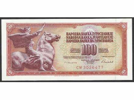 100 dinara 1986 UNC