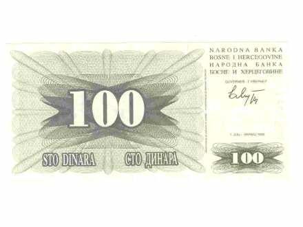 100 dinara,BiH,1992,unc.