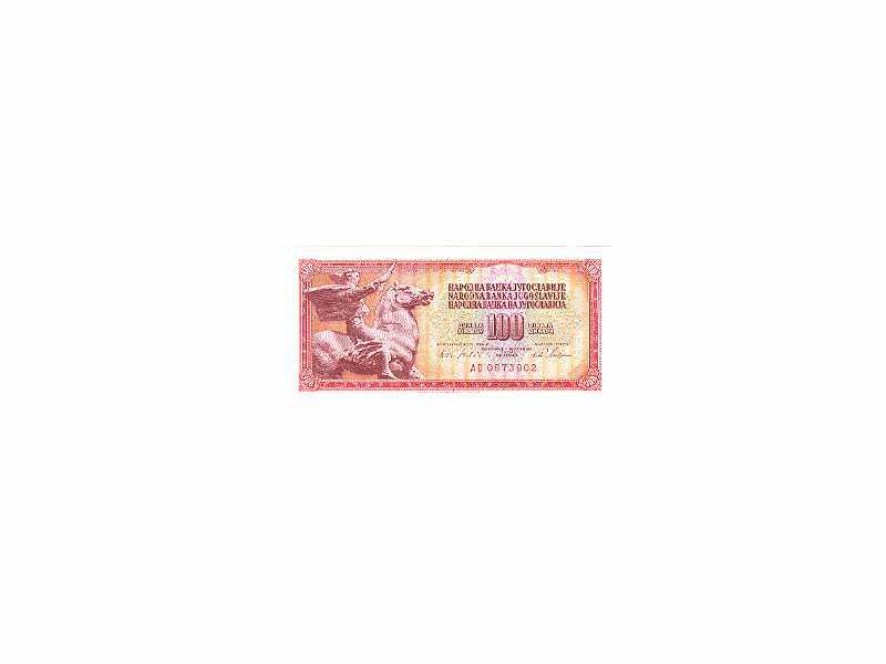 100 dinara SFRJ,1965,unc.