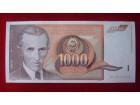 1000 DINARA 1990 - UNC