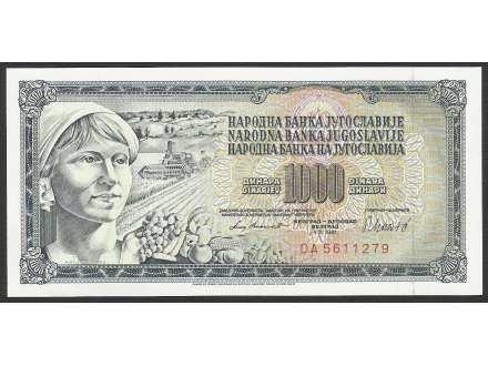 1000 dinara 1981 UNC