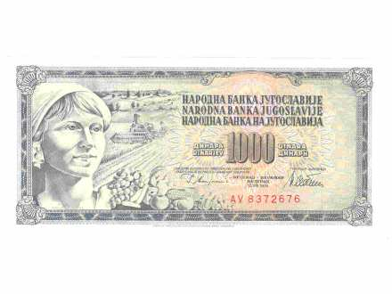 1000 dinara,SFRJ,1978,unc.