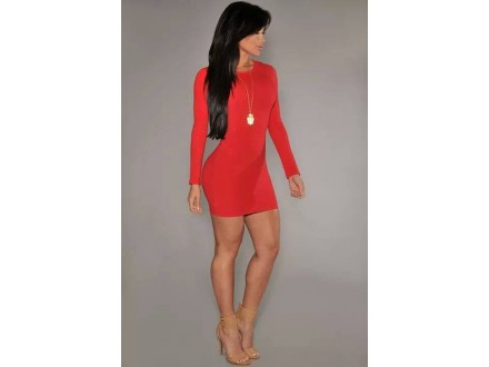124) Crvena sexy haljina VIŠE BOJA