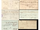 1847 - 1854 Predfilatelisticka pisma 6 kom