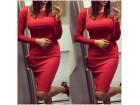 185) Prelepa crvena haljina u vise boja