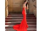 197) Crvena sirena push up haljina