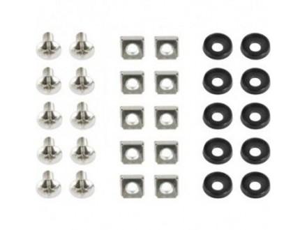 """19A-FSET-01 19"""" rack set, Vijci, navrtke i podloške, 10kom set"""