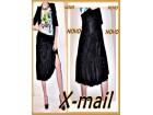 2.7.Xmail L plišana crna suknja