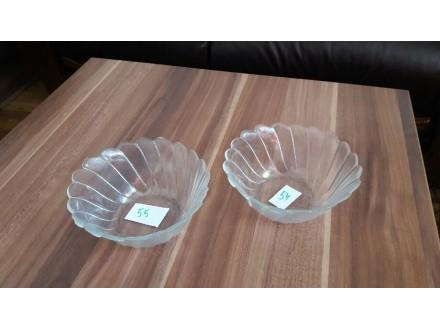 2 Činijice staklene prelepe R-12,5 cm, H-5,5cm