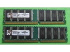 2 modula Kingston DDR SDRAM (2 x 512MB) - 400 MHz