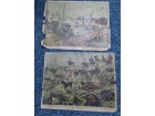 2 ostecene litografije knjizare T. Jovanovica i Vujica