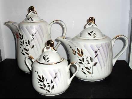 2 velika  čajnika + posuda za šećer - Ručno slikani