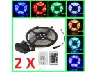 2 x RGB LED komplet 5 m vodootporna LED SLIM