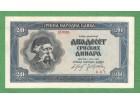 20 dinara 1942 XF++ PLAVI VUK RETKO